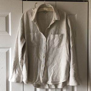 Madewell Off- White Flannel Button Up Shirt